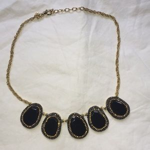 Talbots black and gold Statement necklace